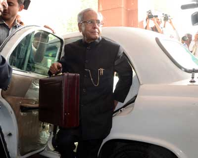 Finance Minister Pranab Mukherjee alll set with his Budget bag