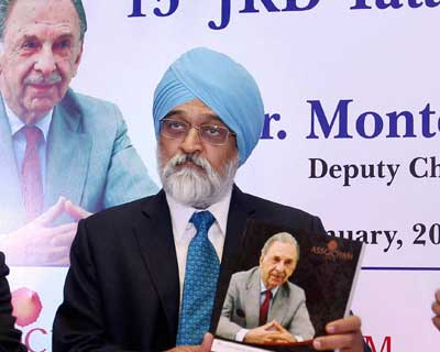 Montek launches book on JRD Tata