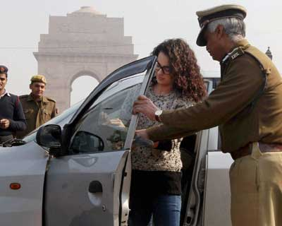 Kangna Ranaut takes part in road safety event