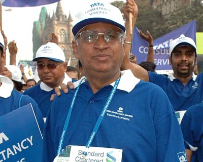 Tata Consultancy Services Chief Executive Officer & Managing Director S Ramadorai at the event.