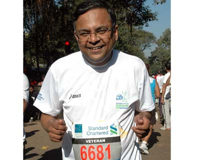 Tata Consultancy Service (TCS) Chief Executive Officer & Managing Director N Chandrasekaran at the event <P> <b>Picture by Suryakant Niwate</b> </P>