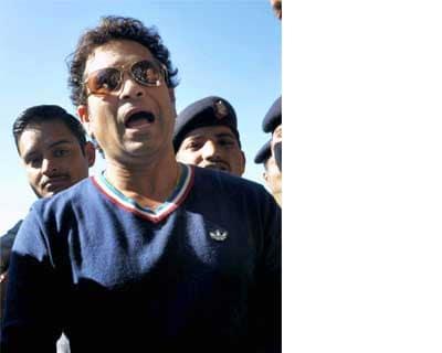 Tendulkar addresses a press meet