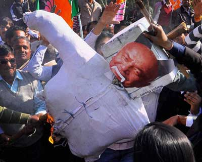 BJP protests Shinde's statement