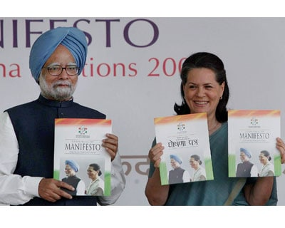<b>Sonia releases manifesto</b>