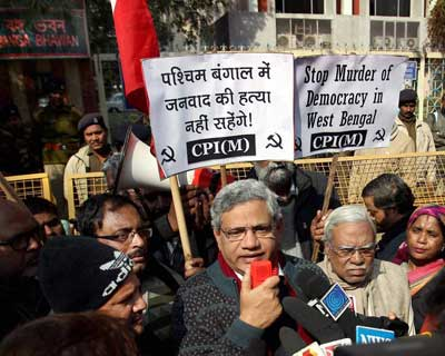 Yechuri protests against WB government