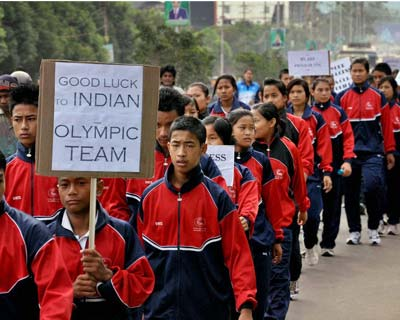 India wishes for luck at Olympics