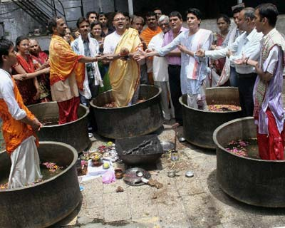 People perform special prayers for rains
