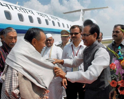 Bhutan PM Jigme Thinley in Bhopal for Sanchi function