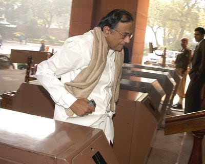 Home Minister P Chidambaram enters Parliament House to attend Interim Budget session in New Delhi <P> <b>Image by Sanjay K Sharma</b> <P>