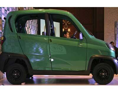 Bajaj unveils 4-wheeler