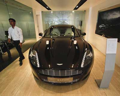 India's rich drive