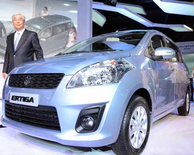 <p>MD & CEO of Maruti Suzuki Shinzo Nakanishi at the unveiling</p><p><b>Photo Credit: Sanjay Sharma</b></p>
