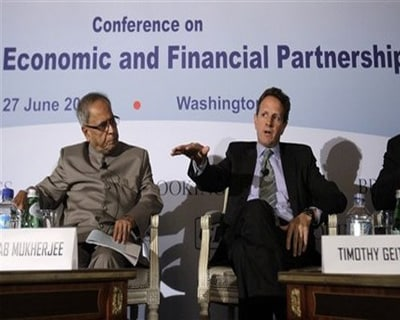 Geithner to raise US biz concerns over India with Pranab