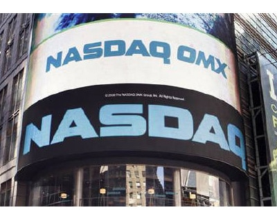 <p><b>The NASDAQ market site is seen in New York's Times Square</b>