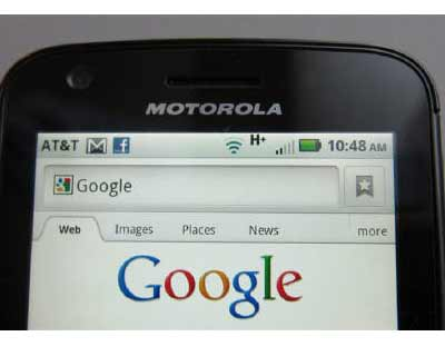 <p>A Motorola Droid phone is seen displaying the Google search page in New York</p><p><b>The bubble in mobile phone technology patent values may just have popped.</b></p><p>Now that Google has agreed to a $12.5 billion deal to buy Motorola Mobility H