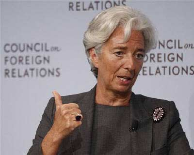 <p><b>International Monetary Fund (IMF) Managing Director Christine Lagarde speaks at the Council on Foreign Relations forum in New York</b></p><p>The heads of the US Federal Reserve, IMF and OECD stepped up pressure on political leaders on both side
