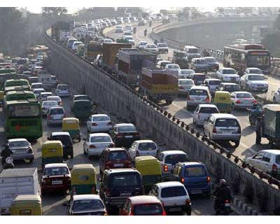 <p>Traffic moves along a busy road in New Delhi</p><p><b>Cars sales in India fell 10% in August, pulling down total passenger vehicle sales for the second month in a row, as high interest rates and rising costs hit demand in Asia&#39;s third-largest