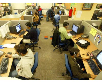 <p><b>Engineers attend to calls from abroad inside a call center in Gurgaon on the outskirts of New Delhi</b> </p><p> Patni Computer Systems today reported a decline of of 2.71% in net income for the quarter ended Dec 31, 2010, to Rs 177.3 crore, a