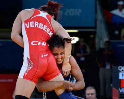 Geeta Pogat loses in women's 55kg freestyle first round