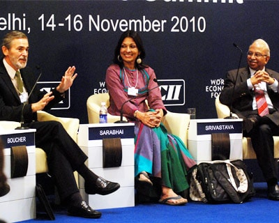 <p><b>Richard A Boucher Dy Secretary-General, Organisation for Economic Co-operation and Development (oecd) Paris; Mallika Sarabhai,Director,Darpana Academy of performing Art and Saurabh Srivastava, chairman,India,CA Technologies</b>