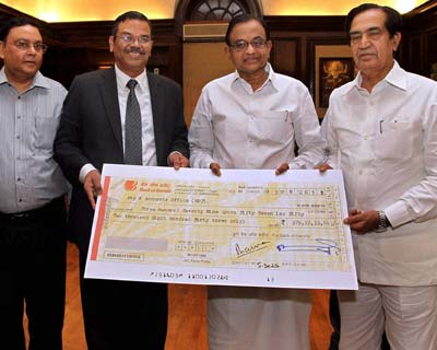 BoB Chairman hands over dividend cheque to Finance Minister