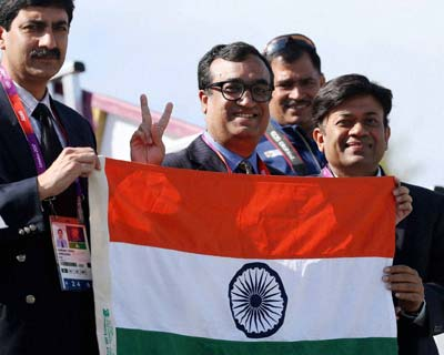 Ajay Makhan cheers for India at the Olympics