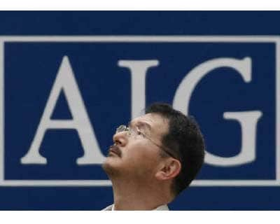 <P> <b>A man stands in front of an AIG logo in Tokyo</b> </P><P> AIA, the Asian life insurance arm of AIG, raised $17.9 billion by pricing its Hong Kong IPO at the top of its range, as investors piled into a company with a wide footprint across ra
