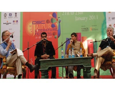 <p>(From left:) John Elliot with Amitabh Kant, Willian, Nanda Bissell and Suhel Seth discussing on Brand India at the Festival.</p>