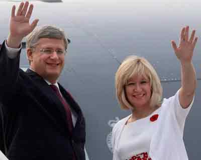 Canadian PM Harper in India