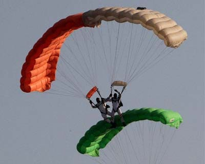 IAF paratroopers at 80th Air Force Day