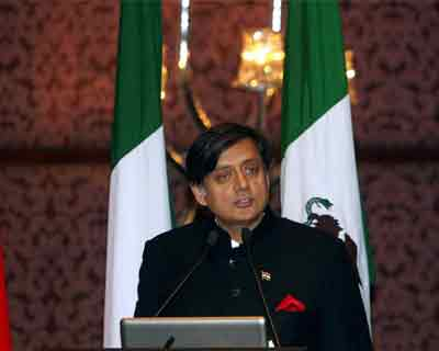 Shashi Tharoor at ninth E-9 ministerial review meet