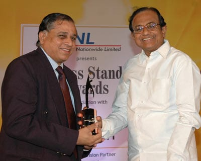 BHEL Chairman and Managing Director B P Rao receives the Star PSU award.
