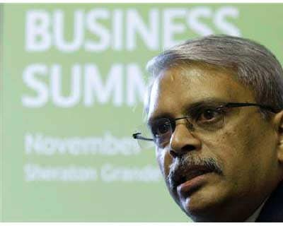 <b>Kris Gopalakrishnan, CEO of Infosys Technologies, attends the G20 CEO Summit in Seoul</b>