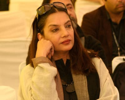 Hindi film actor Shabana Azmi is all ears at one of the discussions.