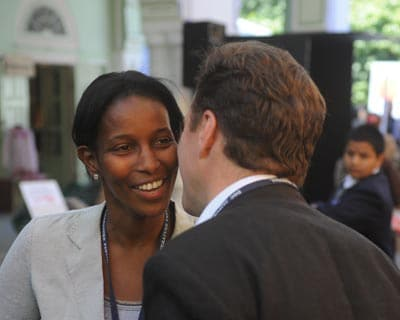 Ayaan Hirsi Ali, the former Dutch parliamentarian facing death threat for her outspoken criticism of Islam, at the festival.