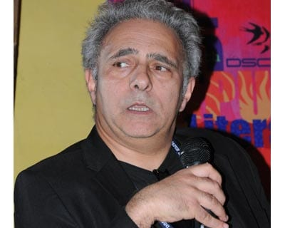 "Writer Hanif Kureishi at a discussion called ""Migrant Words""."