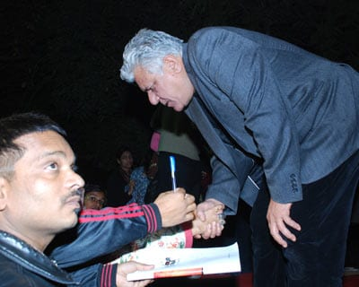 Hindi film actor Om Puri was present at the festival to discuss his just-released biography.