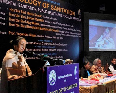Meira Kumar attends a seminar