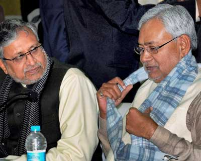 Nitish attends state function