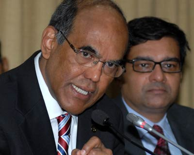 Subbarao addresses a press conference