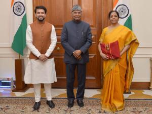 Sitharaman back with traditional 'bahi khata' for Budget 2020-21