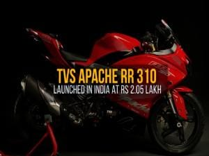 TVS Apache RR 310: Launched in India at Rs 2 05 Lakh, Video