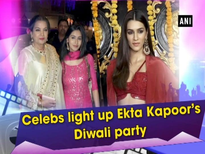 Celebs light up Ekta Kapoor's Diwali party