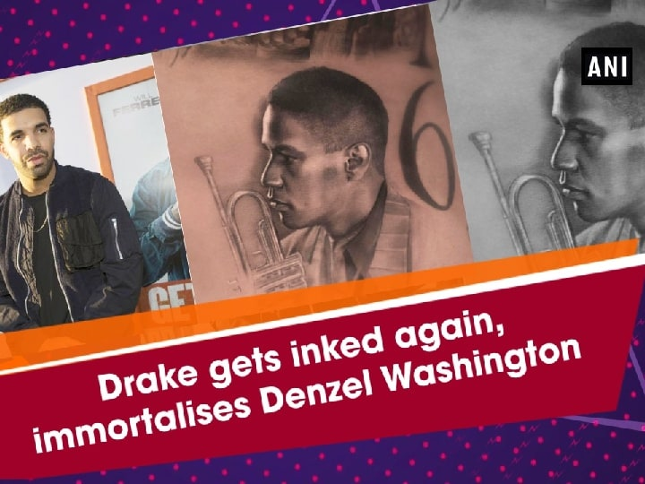 Drake gets inked again, immortalises Denzel Washington