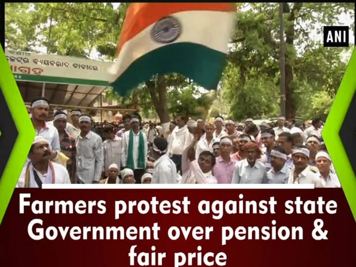 Farmers protest against state Government over pension and fair price