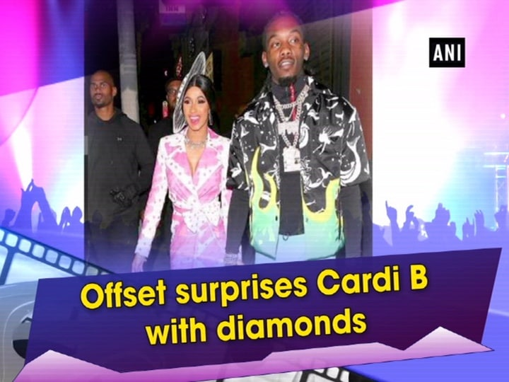 Offset surprises Cardi B with diamonds