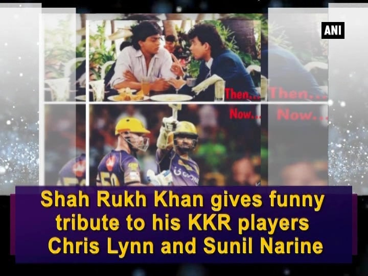 Shah Rukh Khan gives funny tribute to his KKR players, Chris Lynn and Sunil Narine