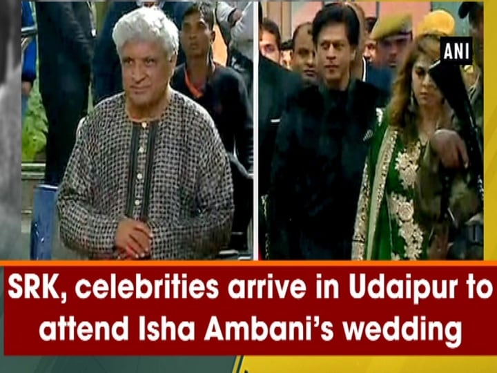 SRK, celebrities arrive in Udaipur to attend Isha Ambani's wedding