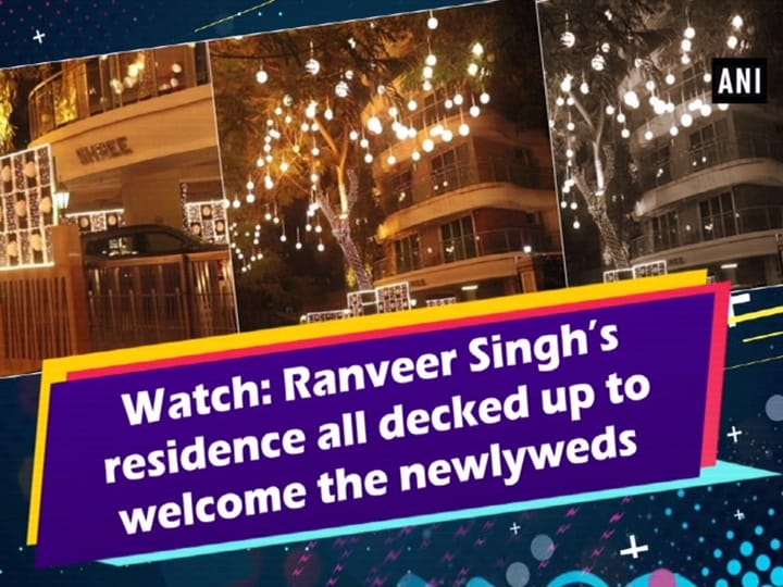 Watch: Ranveer Singh's residence all decked up to welcome the newlyweds