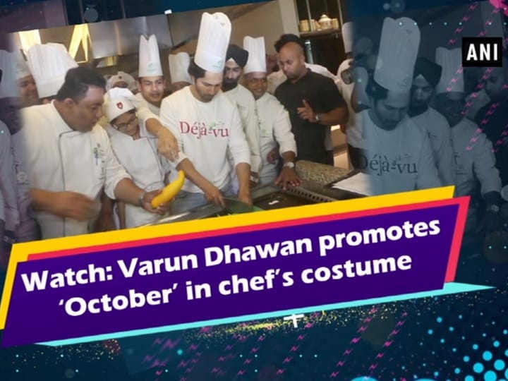 Watch: Varun Dhawan promotes 'October' in chef's costume